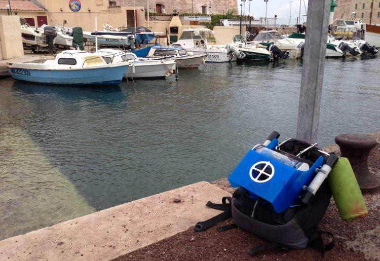 Première sortie pour notre OpenROV en méditerranée